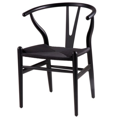 Silla Wishbone Negra Hans Wegner Y Chair Replica