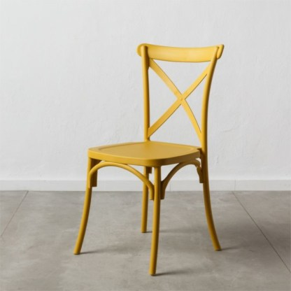 Silla Thonet Cruceta Amarilla | Apilable