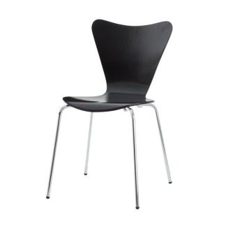 Silla Jacobsen Serie 7 Negra