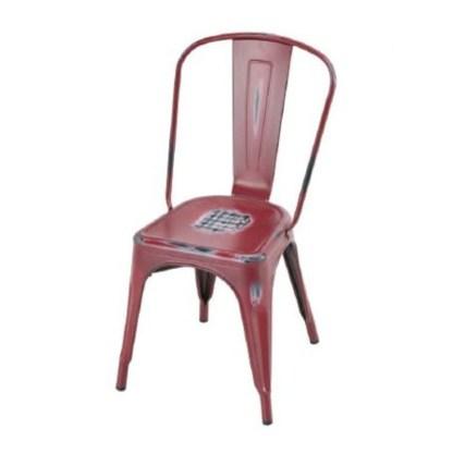 Silla Tolix Style Antique Rojo Outdoor