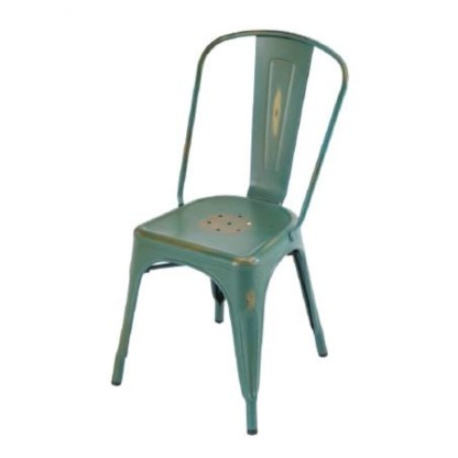 Silla Tolix Style Antique Verde Outdoor