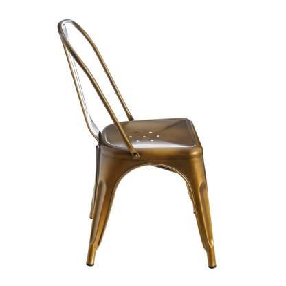 Silla Tolix Style Gold Antique