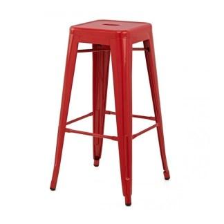 Taburete Tolix Style Rojo