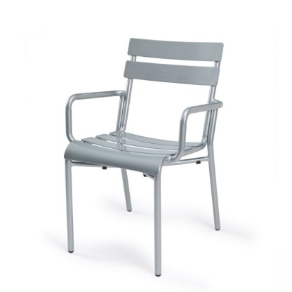 Sillón Terraza Aluminio Gris