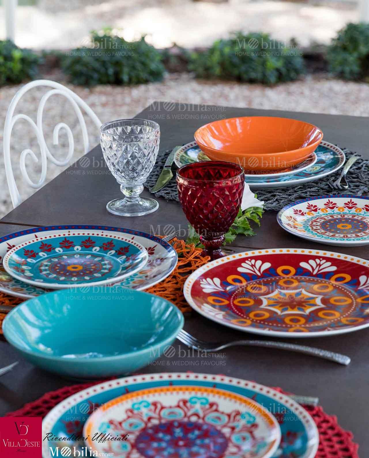 Servizio piatti Villa DEste Shiraz 18 pz  Mobilia Store Home  Favours