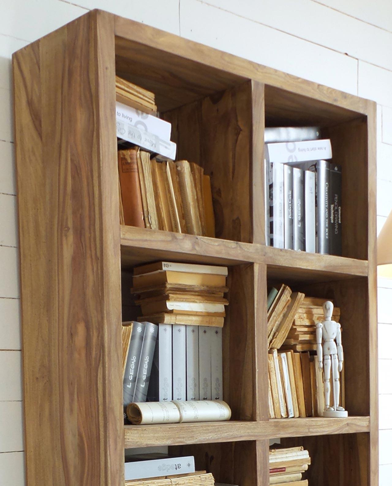 Mobile Libreria Aperta in Legno di Palissandro