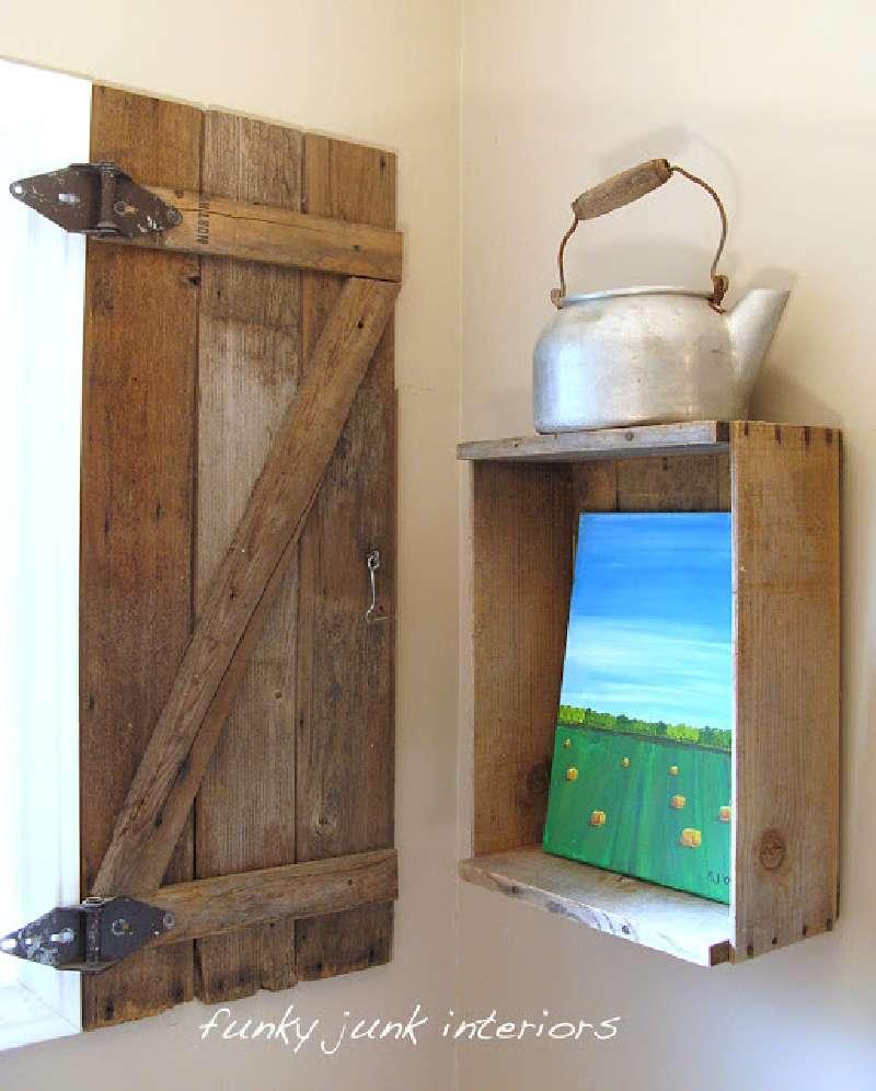 Costruire una persiana rustica per il vostro bagno con