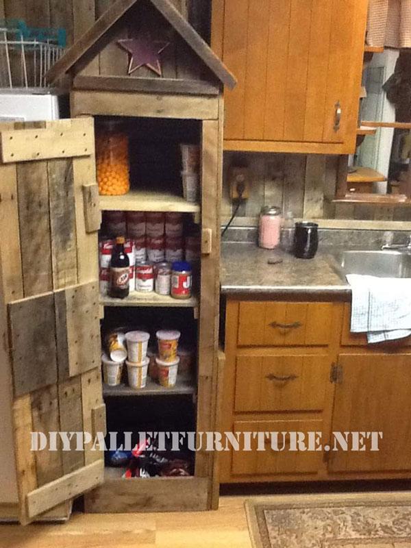 Mobile dispensa per la cucina a base di palletMobili con Pallet  Mobili con Pallet
