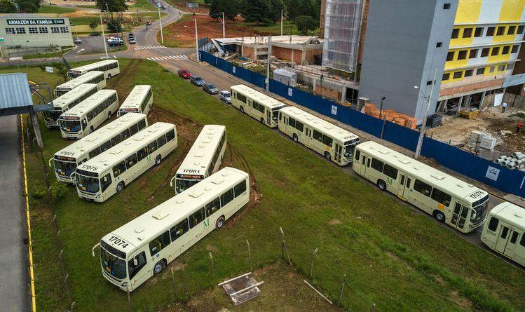 Novos ônibus no Terminal de Pinhais