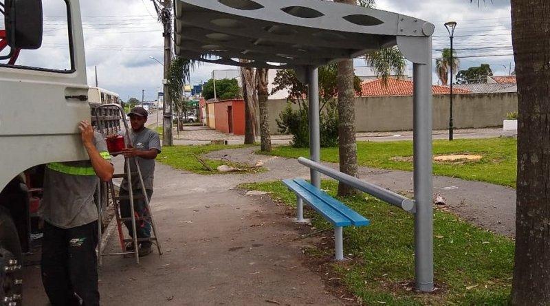pontos de ônibus pinhais