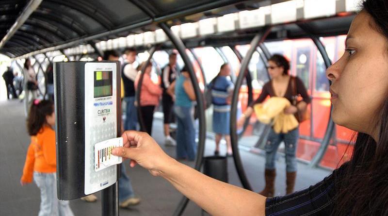 Créditos do cartão-transporte nos terminais