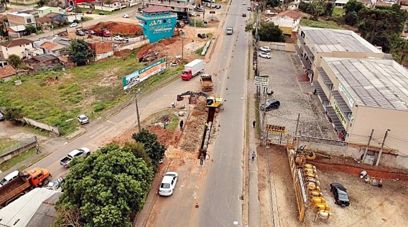 Obras na Avenida Abel Scuissiato