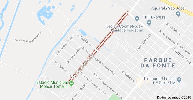 Rua Dolovico Pissaia Parque da Fonte