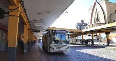 Ônibus no Terminal Guadalupe