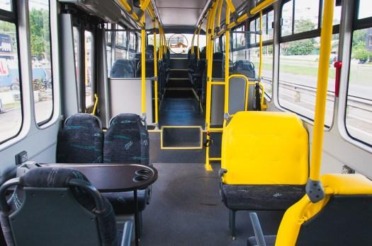 Interior do ônibus elétrico