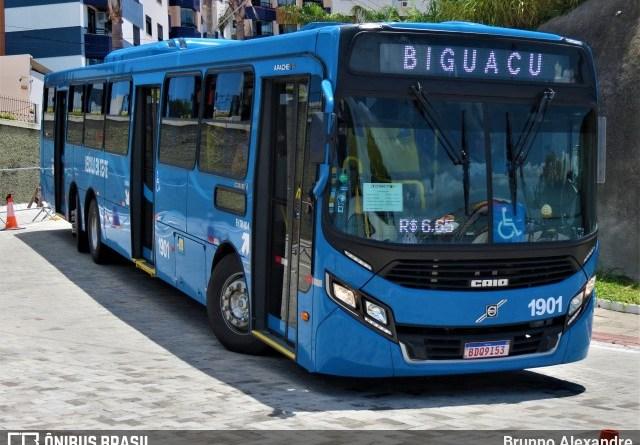 Ônibus Biguaçu Azul