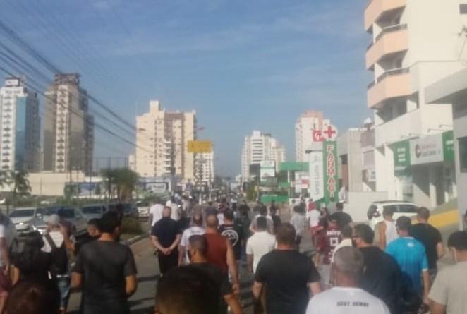 Manifestação em Palhoça