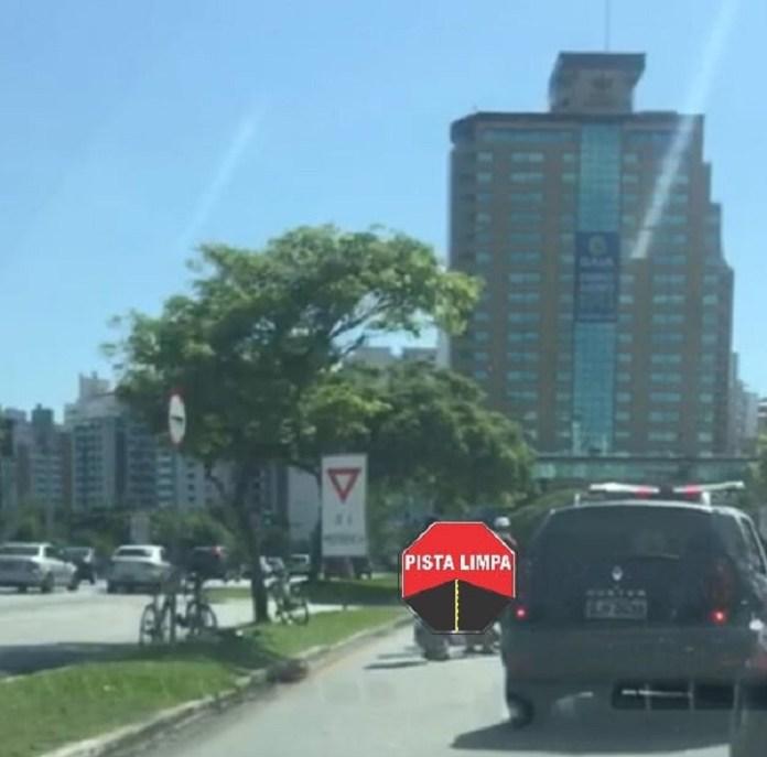 Acidente Moto na Beira-Mar