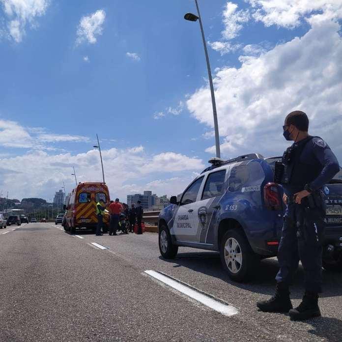 Acidente na Ponte Colombo Motocicleta