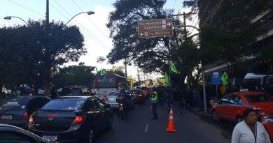Protesto na Avenida Borges de Medeiros