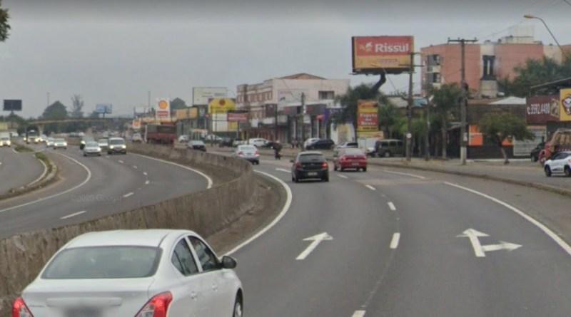 BR-116 no Centro de São Leopoldo