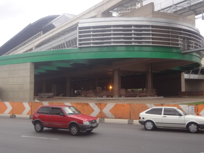 Obras do novo Terminal Vila Prudente