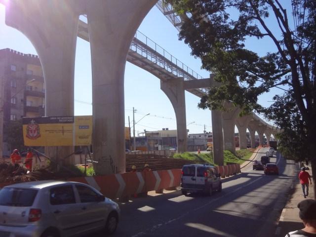 Futura estação Sapopemba da Linha 15-Prata do monotrilho. Foto: Eduardo Silva
