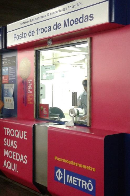 posto de troca de moedas Estação Sé