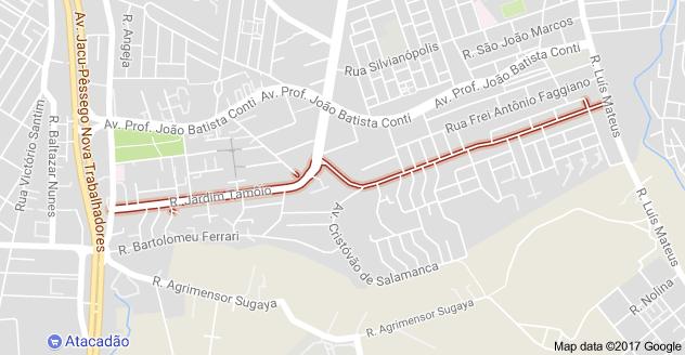 Rua Jardim Tamoio Zona Leste
