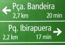 sinalização ciclovia da avenida paulista