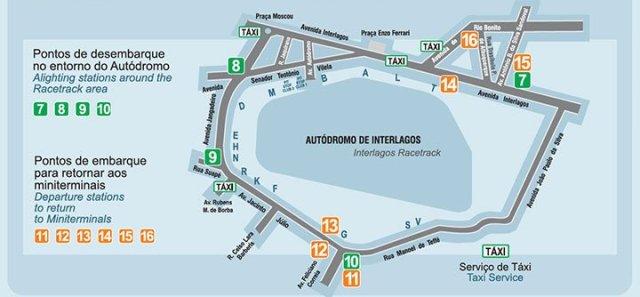 mapa do autódromo de interlagos