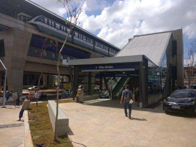 acesso da estação união vila