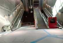 Prevenção de acidentes Estação AACD Servidor Escadas