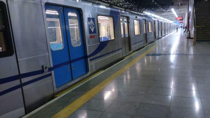 Estação Greve do Metrô de São Paulo Feriado