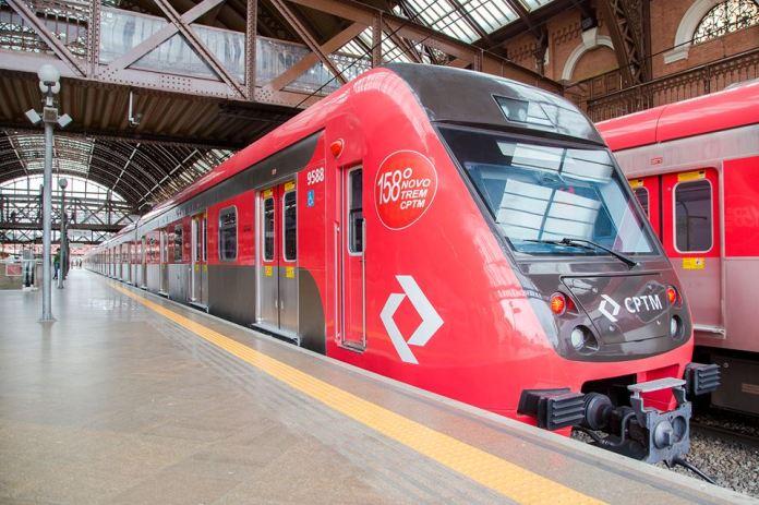 Novo trem Linha 7 Linha 7-Rubi Série 9500