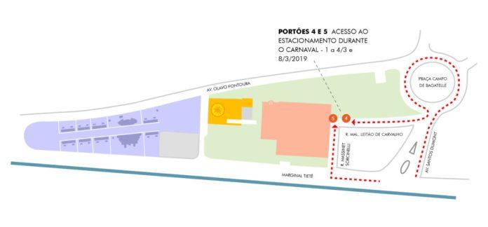 mapa estacionamento