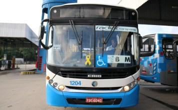 Ônibus Radial Transporte Campanha Maio Amarelo