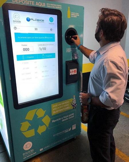 Embalagens recicláveis Máquina da Retorna Machine