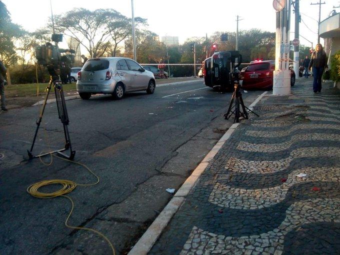 Ocorrência policial na Avenida dos Bandeirantes