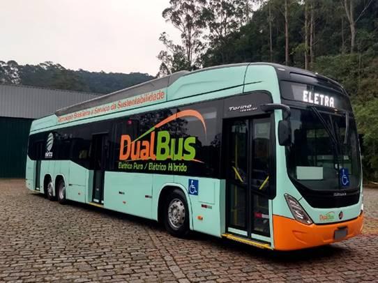 Ônibus elétrico DualBus da Eletra