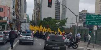 Manifestação no Centro