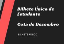 Bilhete Único de Estudante Cota Dezembro