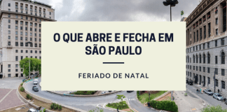 O que abre e fecha São Paulo Natal