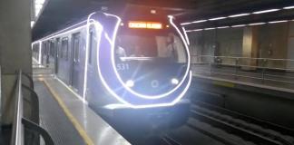 Trem natalino na Linha 5-Lilás