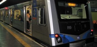Trem frota I Metrô Linha 1-Azul
