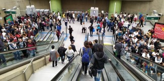 Linha 15-Prata Filas no Metrô Vila Prudente