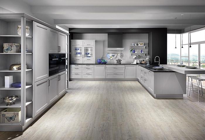 La cucina di colore grigio in 9 bellisime composizioni