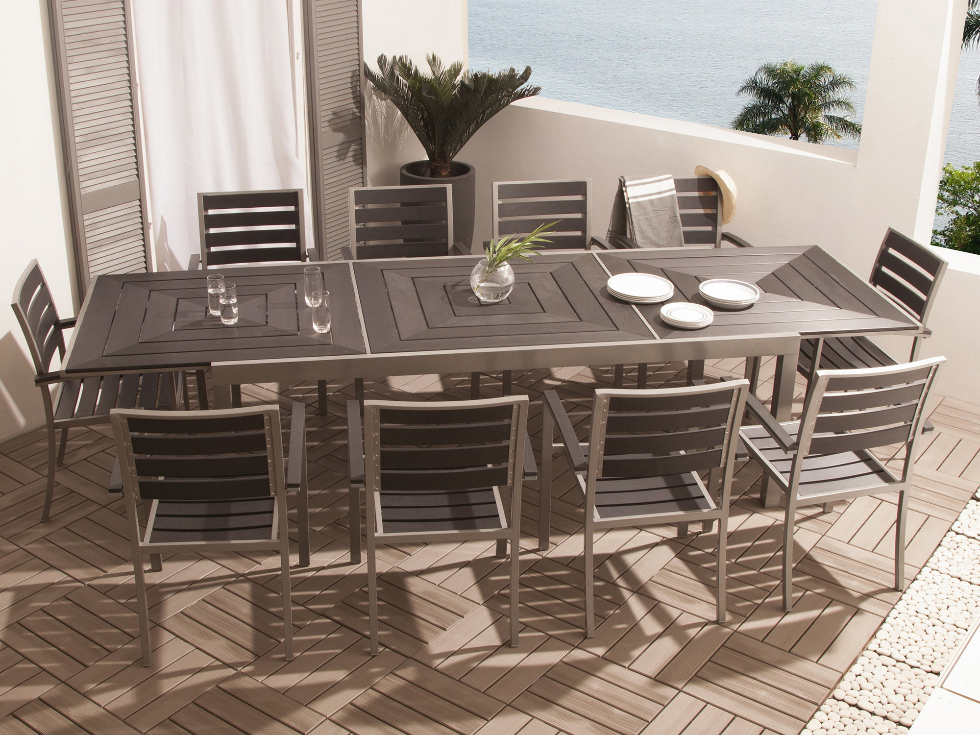 Table De Salon De Jardin Aluminium Table Extensible Aluminium Interesting Nardi Outdoor Table Alloro