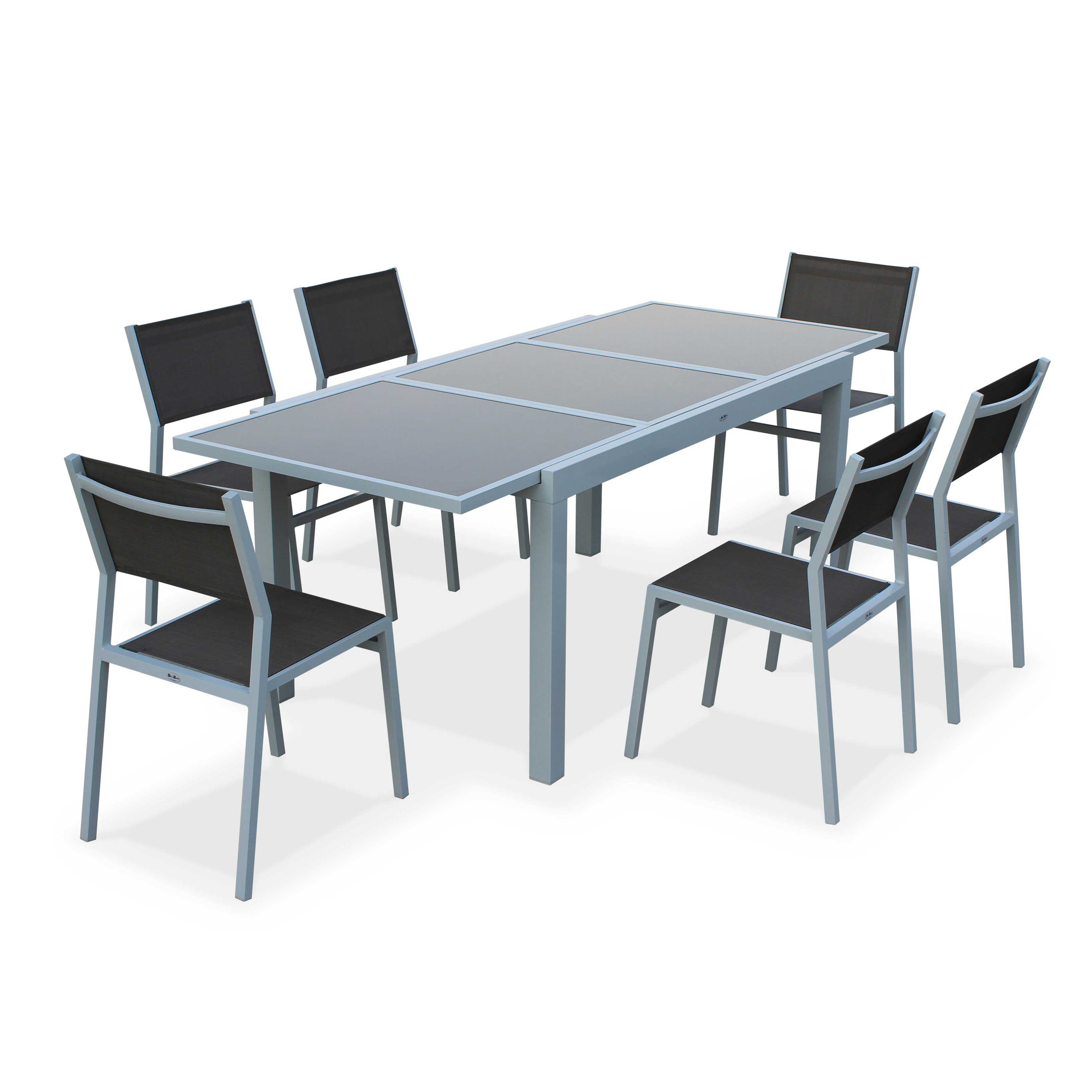 La Table Canberra Extensible + 8 Fauteuils Canberra