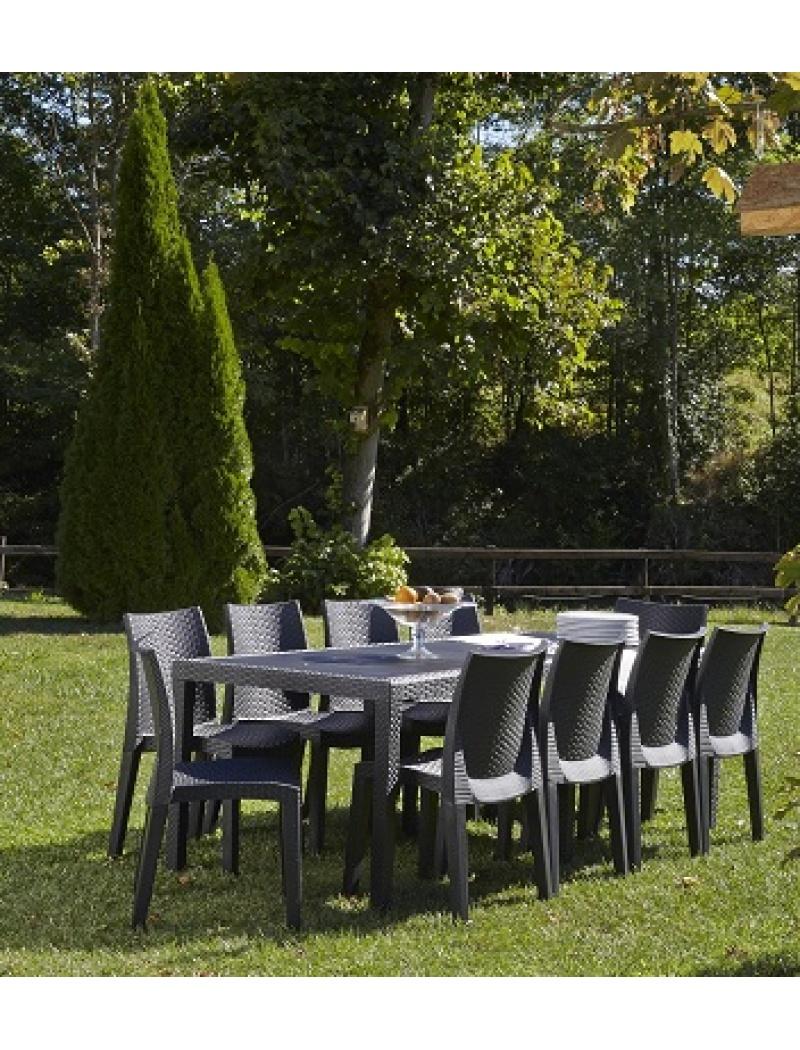 Stunning Table De Jardin Pvc Gris Pictures - House Design ...